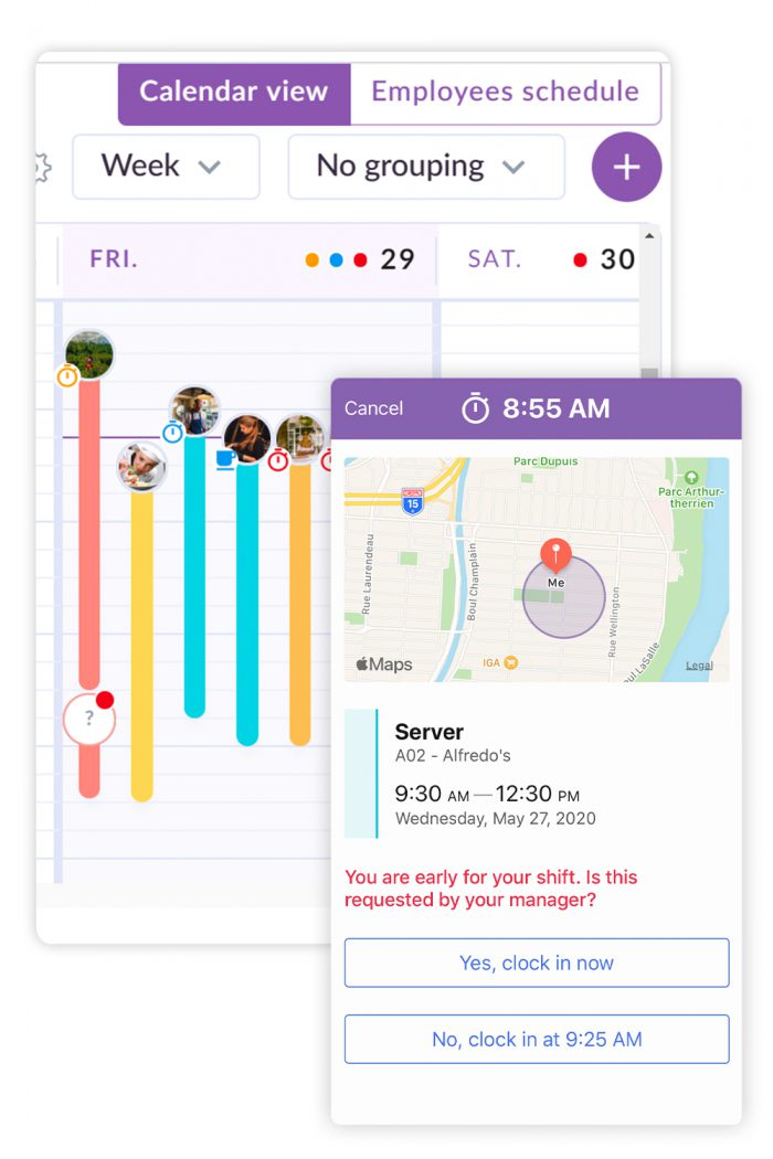 real time tracking employee scheduling app
